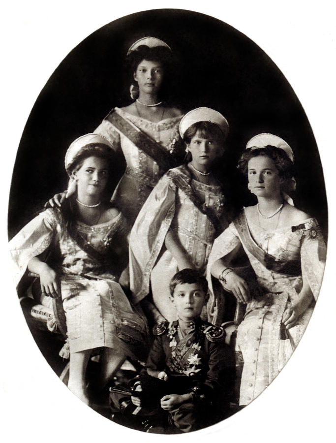 Jew Detector: 1914 The Romanov Children Photograph By Historic Image