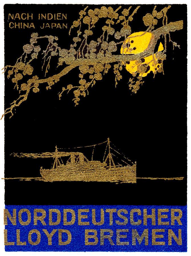 1920 Ocean Liner Poster Painting