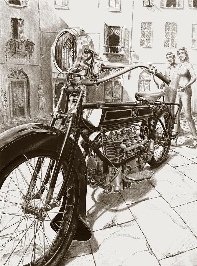F/n Drawing - 1922 F/n by Norman Bean