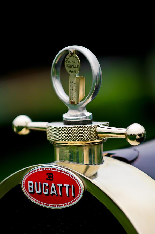 1923 Bugatti Type 23 Brescia Lavocat Et Marsaud Hood Ornament Photograph