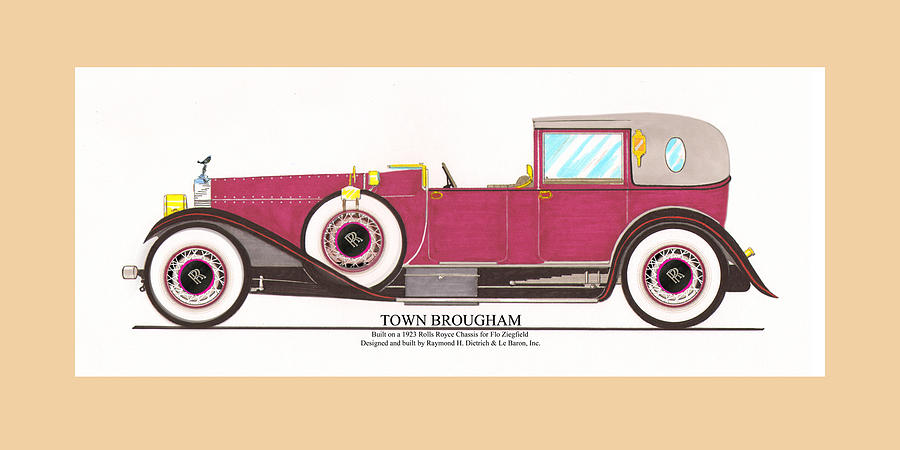 1923 Rolls Royce By Raymond H Dietrich Painting