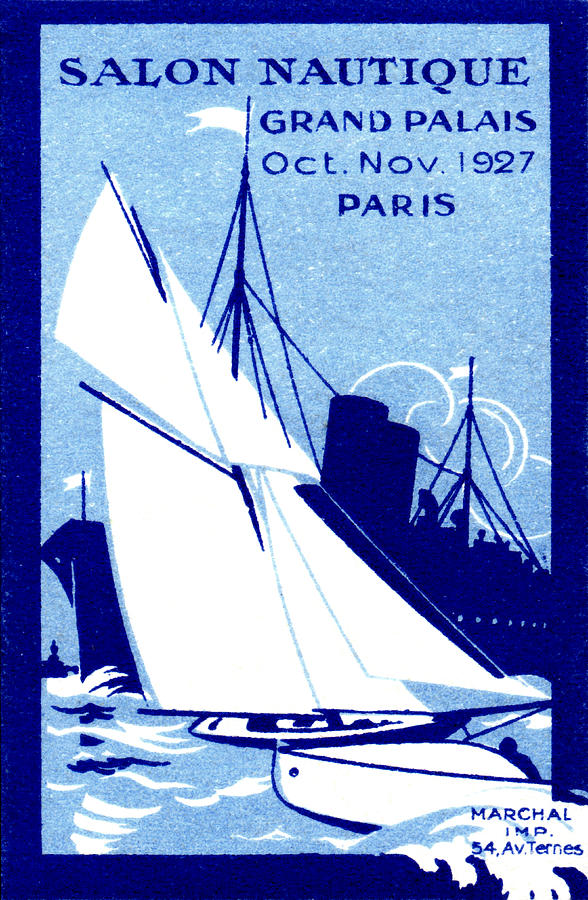 1927 Paris Boat Show Painting  - 1927 Paris Boat Show Fine Art Print