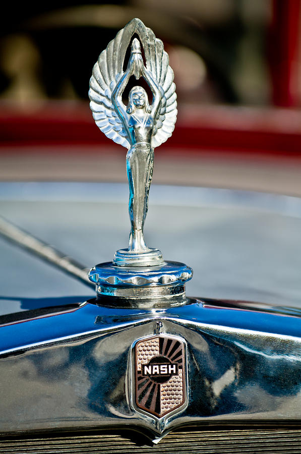 1928 Nash Coupe Photograph - 1928 Nash Coupe Hood Ornament 2 by Jill Reger