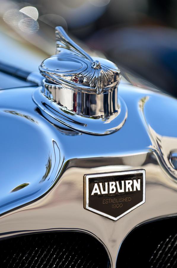 1929 Auburn 8-90 Speedster Photograph - 1929 Auburn 8-90 Speedster Hood Ornament by Jill Reger