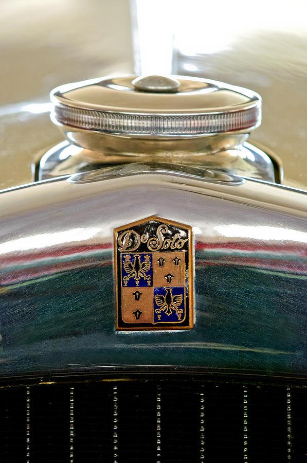1930 Desoto K Model Rumble Seat Convertible Photograph - 1930 Desoto K Hood Ornament Emblem by Jill Reger