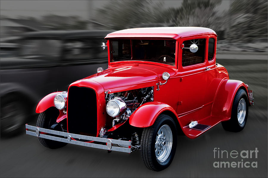 1930 Ford Model A Coupe Photograph  - 1930 Ford Model A Coupe Fine Art Print