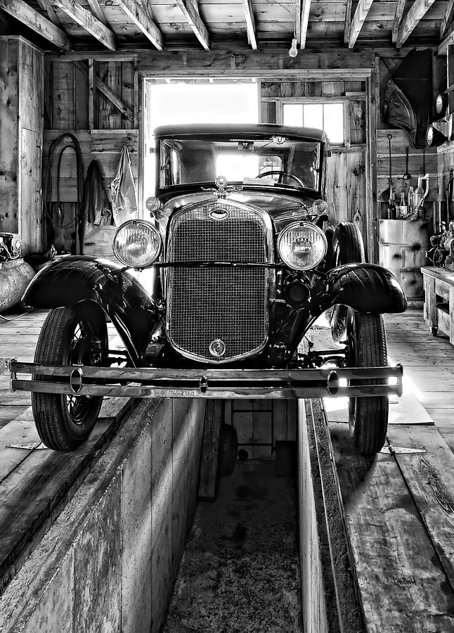 1930 Model T Ford Monochrome Photograph