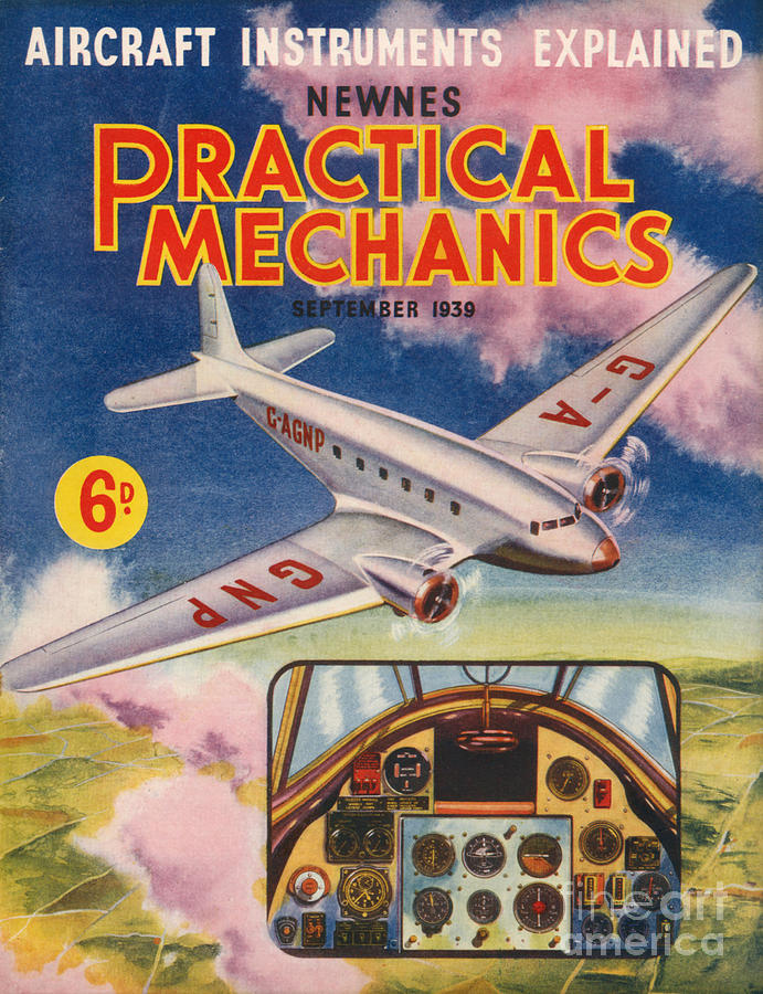 1930s Uk Practical Mechanics Magazine Drawing  - 1930s Uk Practical Mechanics Magazine Fine Art Print