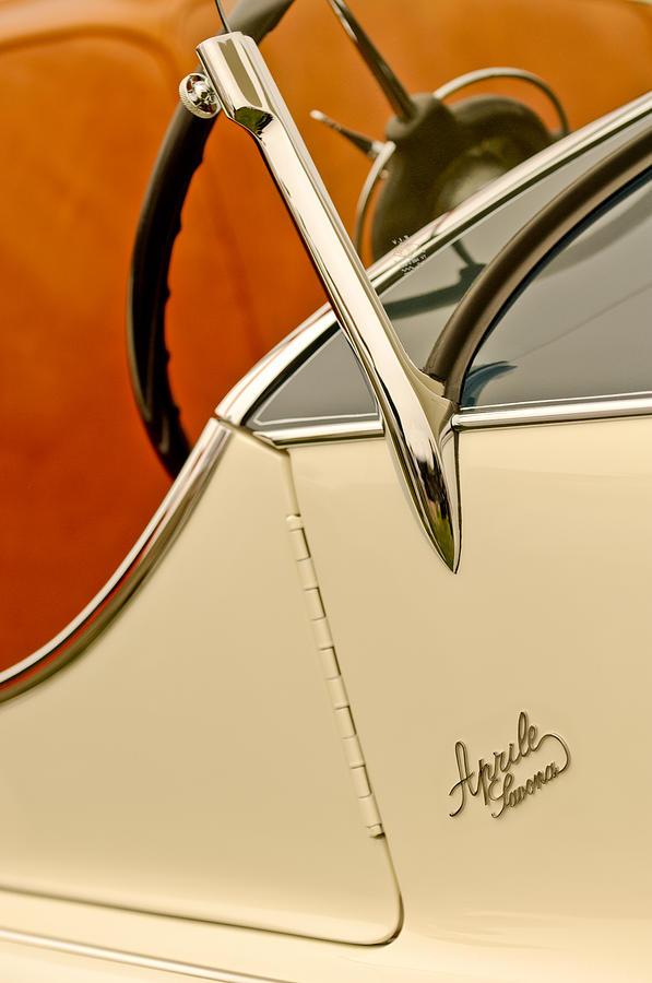 1931 Alfa Romeo 6c 1750 Gran Sport Aprile Spider Corsa Steering Wheel Photograph
