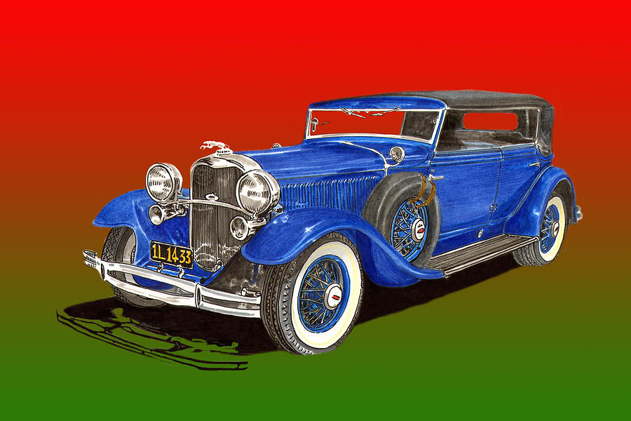 1931 Lincoln K Four Door Convertible Painting