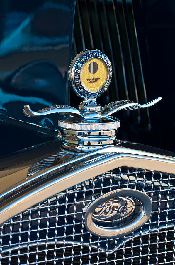1931 Model A Ford Deluxe Roadster Hood Ornament Photograph  - 1931 Model A Ford Deluxe Roadster Hood Ornament Fine Art Print