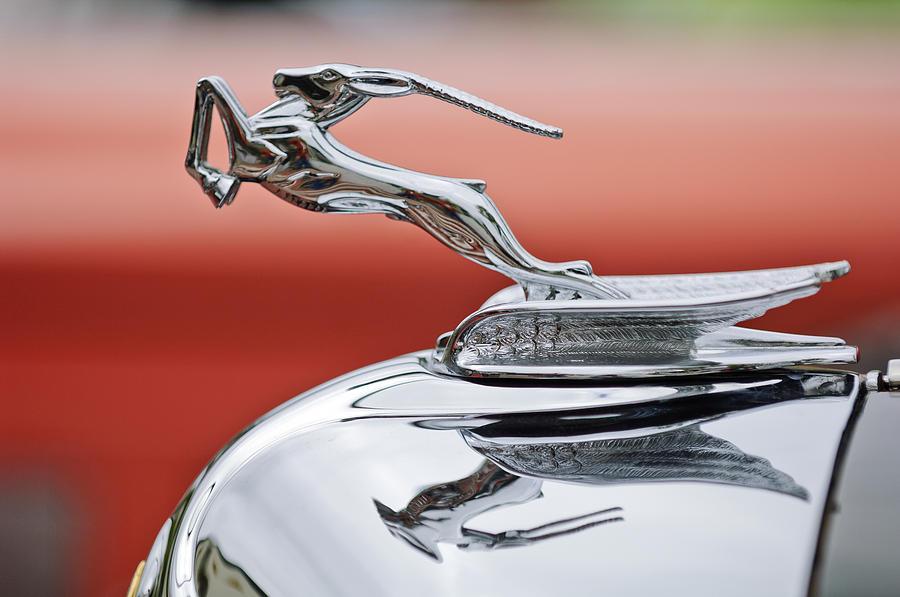 1933 Chrysler Cl Imperial Custom Dual Windshield Phaeton Hood Ornament Photograph