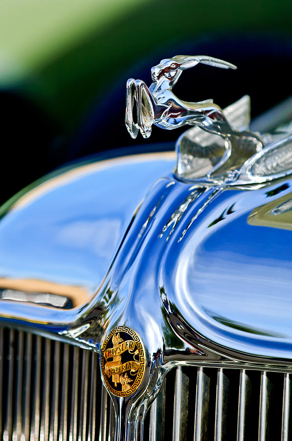 1933 Chrysler Imperial Hood Ornament 3 Photograph  - 1933 Chrysler Imperial Hood Ornament 3 Fine Art Print