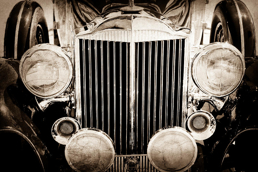 1933 Packard 12 Convertible Coupe Classic Car Photograph  - 1933 Packard 12 Convertible Coupe Classic Car Fine Art Print