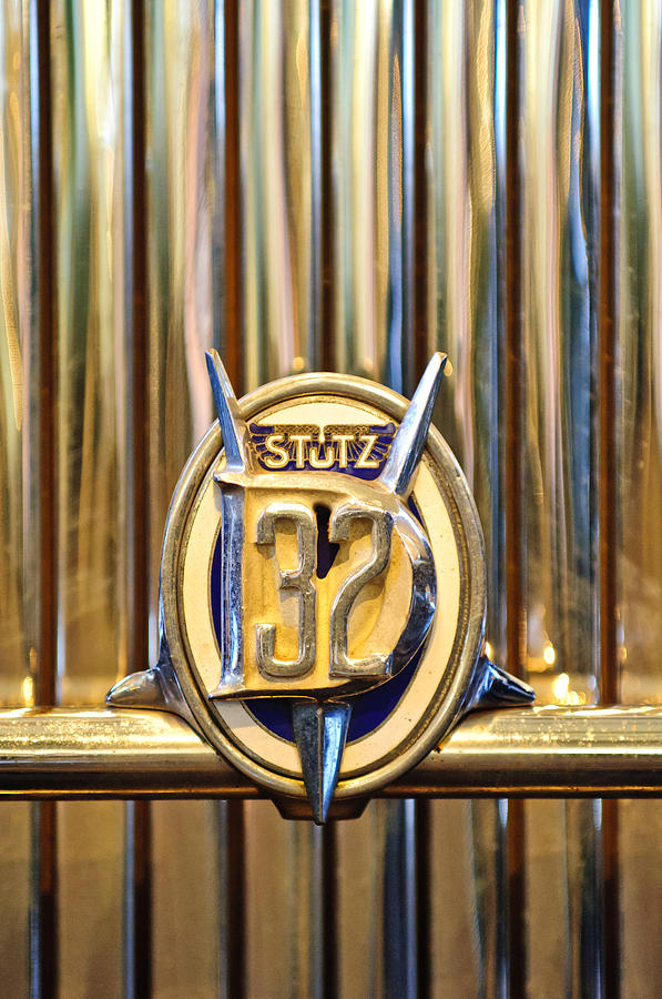 1933 Stutz Dv-32 Five Passenger Sedan Emblem Photograph  - 1933 Stutz Dv-32 Five Passenger Sedan Emblem Fine Art Print
