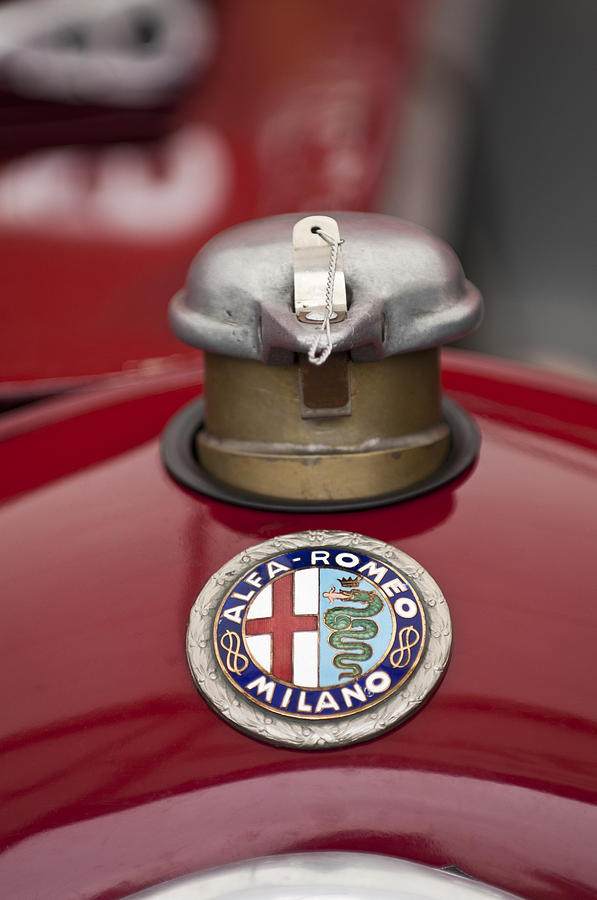 1934 Alfa Romeo Tipo B Hood Emblem Photograph