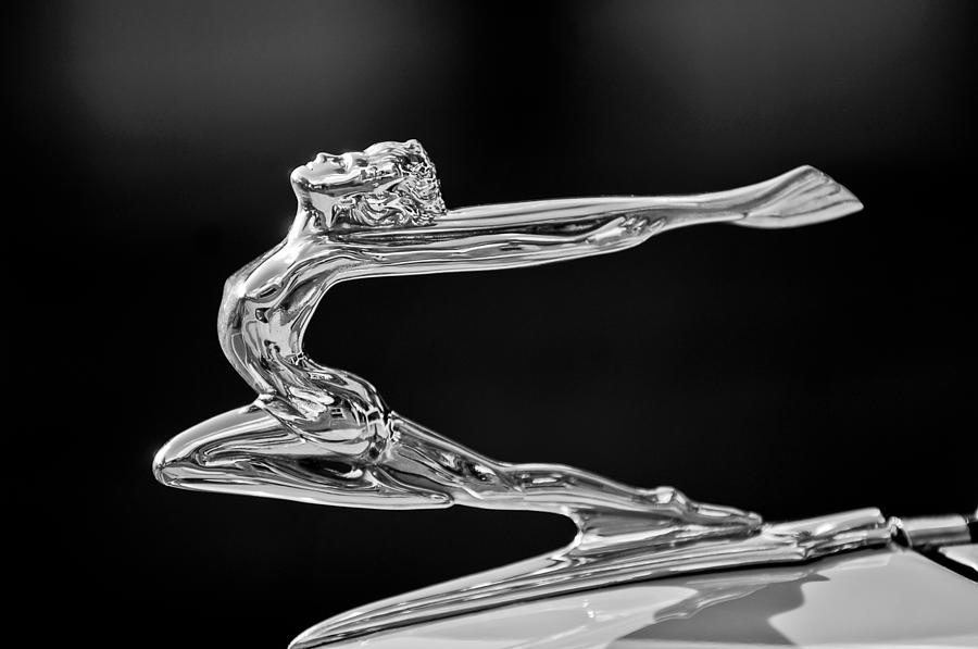 1934 Buick Goddess Hood Ornament 2 Photograph  - 1934 Buick Goddess Hood Ornament 2 Fine Art Print