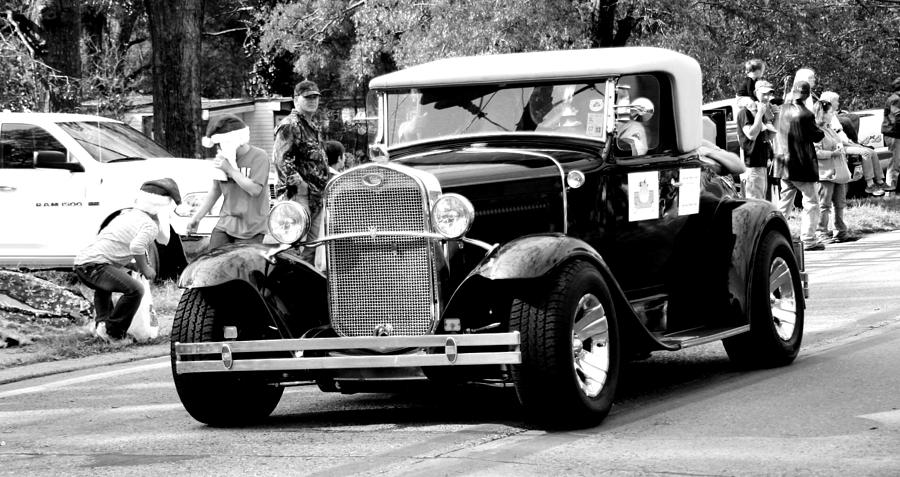 1934 Classic Car In Black And White Photograph by Ester Rogers