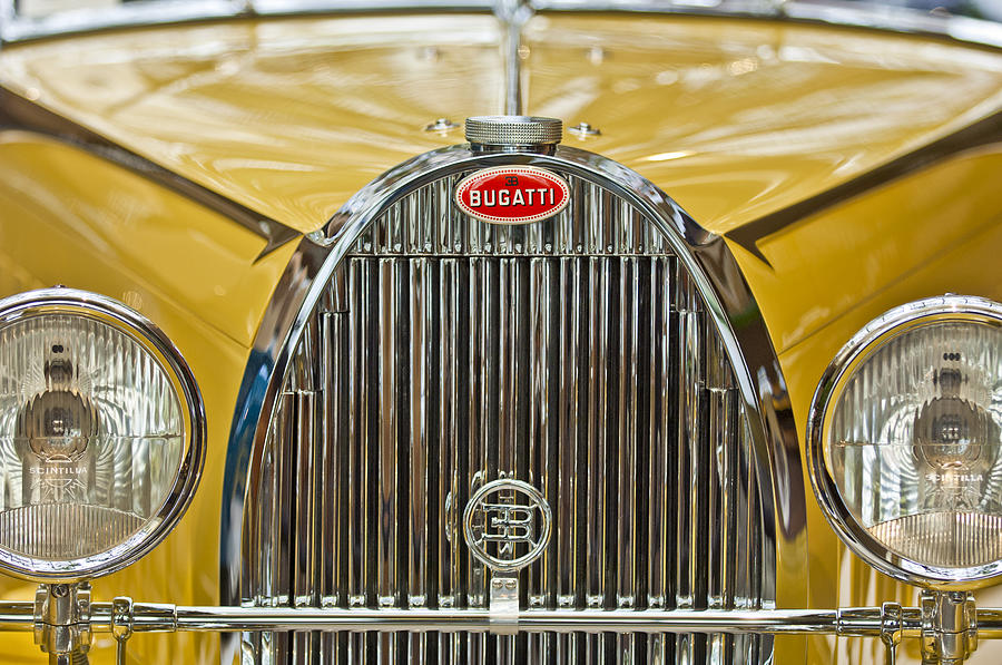 1935 Bugatti Type 57 Roadster Grille Photograph