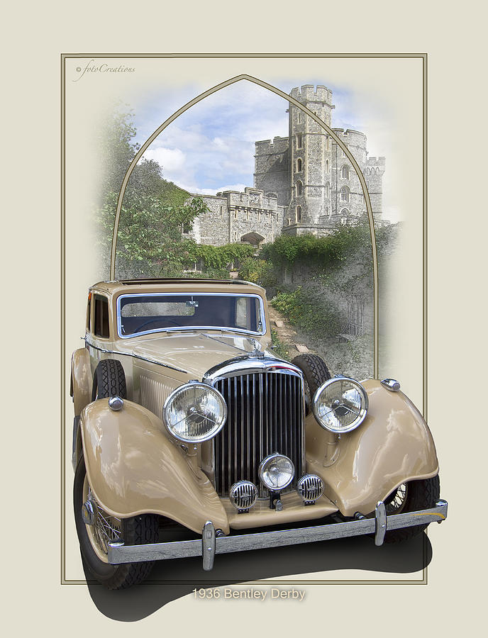 1936 Bentley Derby Digital Art