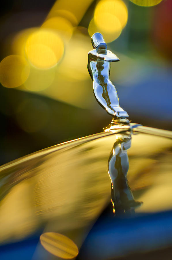 1936 Cadillac Hood Ornament Photograph