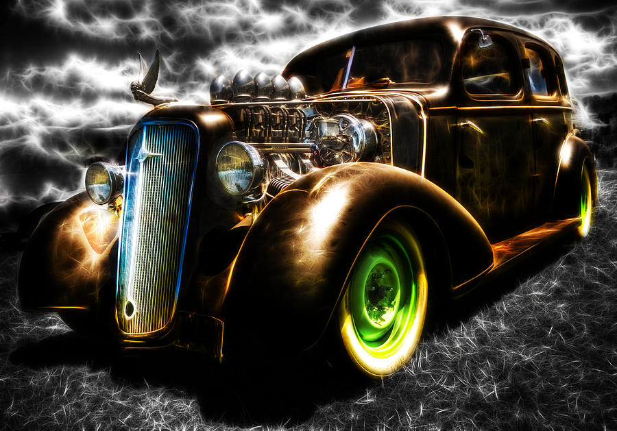 1936 Chevrolet Sedan Photograph  - 1936 Chevrolet Sedan Fine Art Print