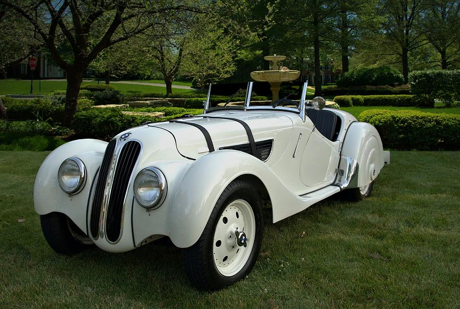 1937 Photograph - 1937 Bmw 328 Roadster by Tim McCullough