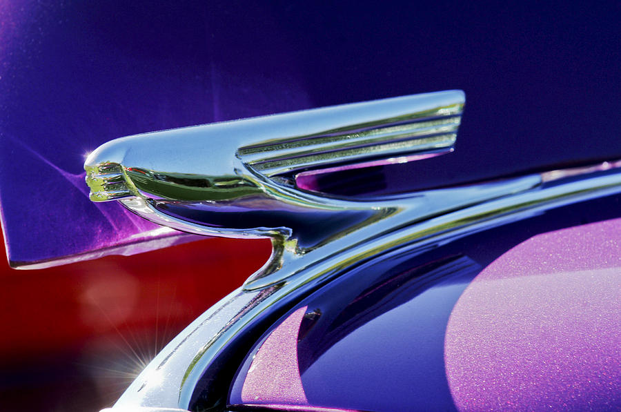 1937 Chevrolet 2 Door Sedan Hood Ornament Photograph  - 1937 Chevrolet 2 Door Sedan Hood Ornament Fine Art Print