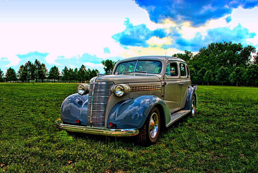 1938 Chevrolet 4 Door Sedan Photograph  - 1938 Chevrolet 4 Door Sedan Fine Art Print