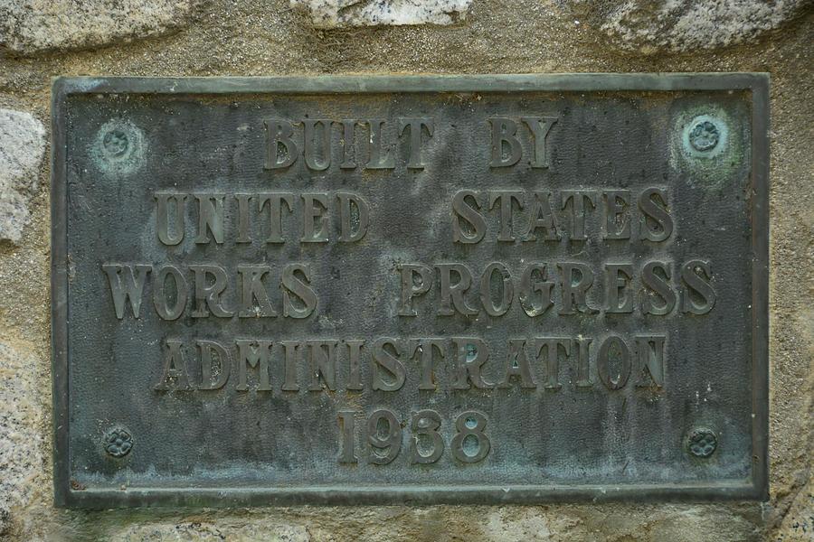 1938 Works Progress Brass Sign Photograph