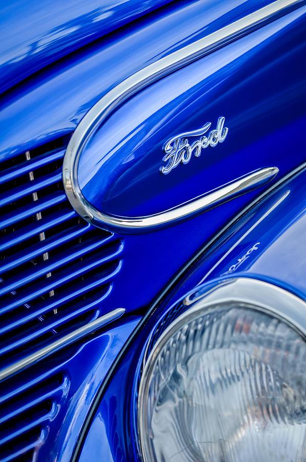 1939 Ford Woody Wagon Side Emblem Photograph