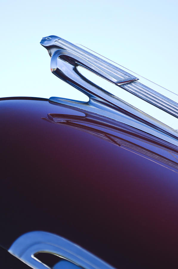 1940 Chevrolet Hood Ornament Photograph  - 1940 Chevrolet Hood Ornament Fine Art Print