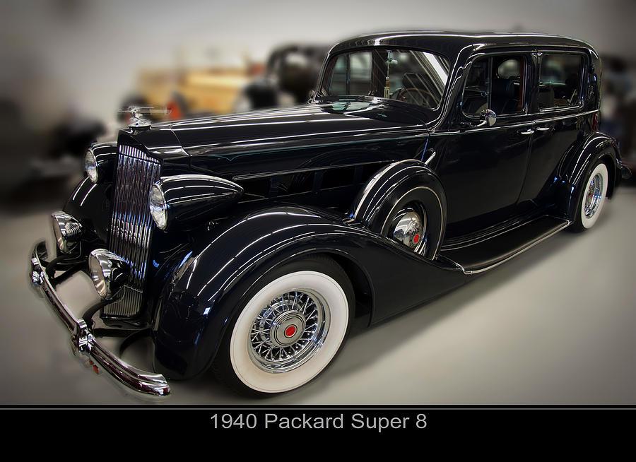 1940s Cars Digital Art - 1940 Packard Super 8 by Chris Flees