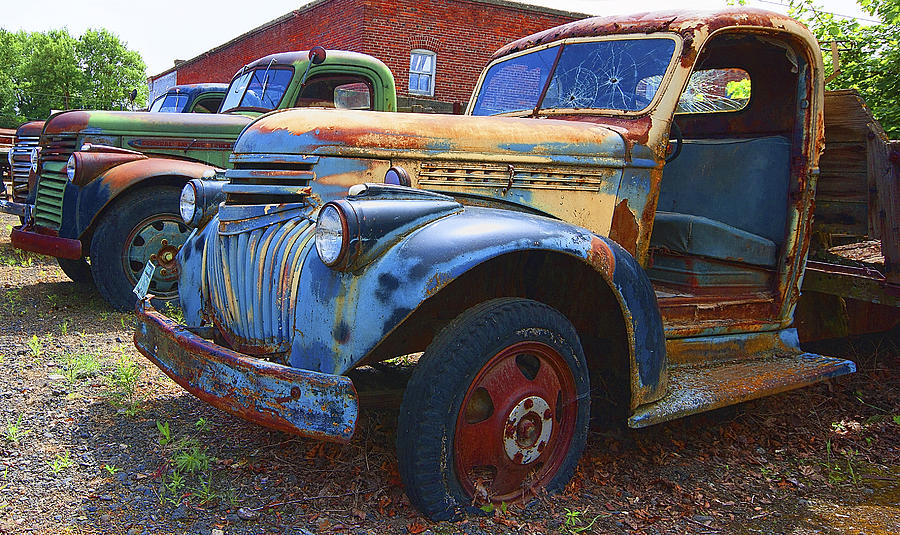 1940s Chevy And General Motors Trucks Photograph By Daniel