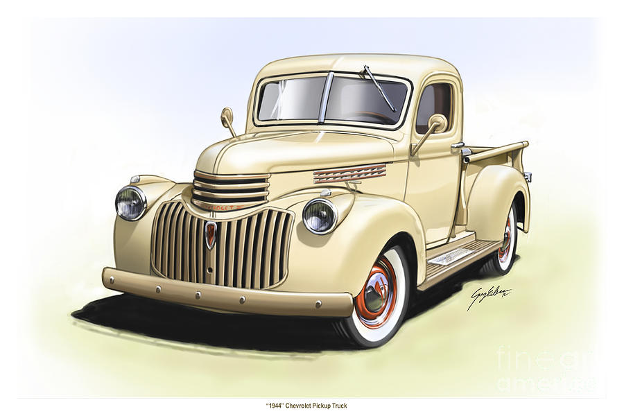 1944 Chevrolet Pickup Truck  Digital Art