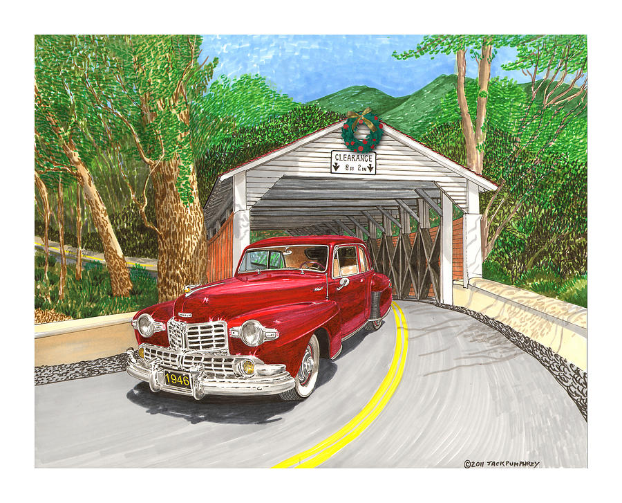 1946 Lincoln Continental Painting  - 1946 Lincoln Continental Fine Art Print