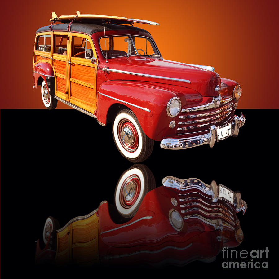 1947 Ford Woody Photograph
