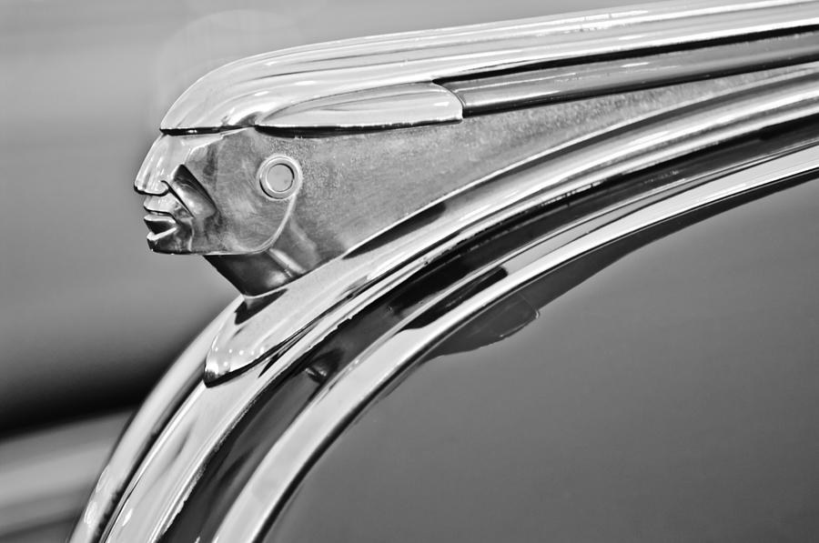 1948 Pontiac Chief Hood Ornament 2 Photograph  - 1948 Pontiac Chief Hood Ornament 2 Fine Art Print