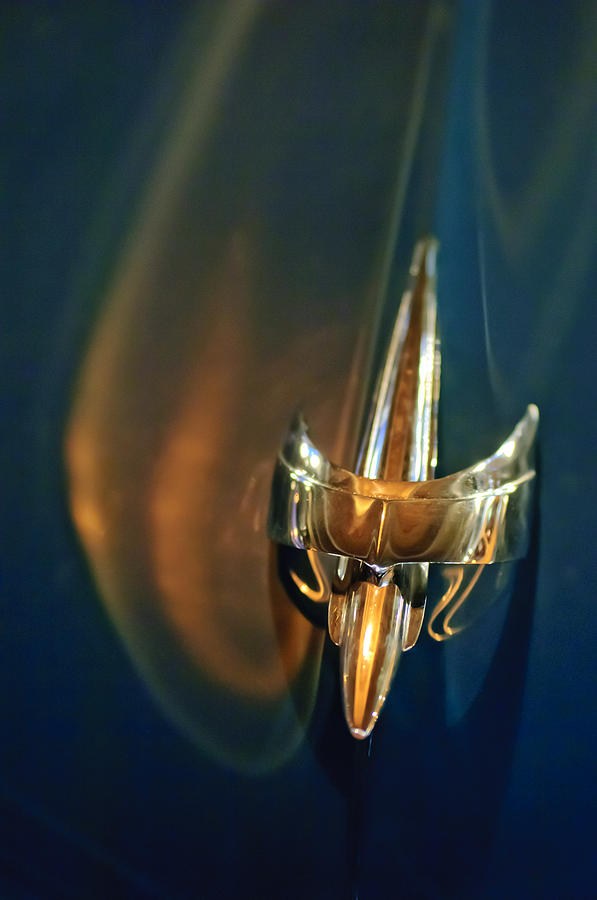 1949 Mercury Woody Wagon Hood Ornament Photograph  - 1949 Mercury Woody Wagon Hood Ornament Fine Art Print