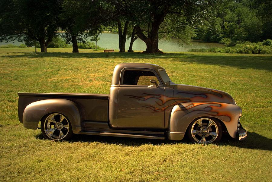 1950 chevrolet custom pickup truck photograph. Black Bedroom Furniture Sets. Home Design Ideas