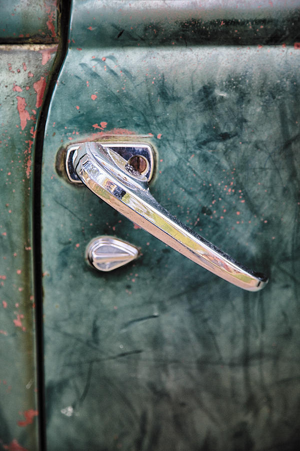1950 Classic Chevy Pickup Door Handle Photograph