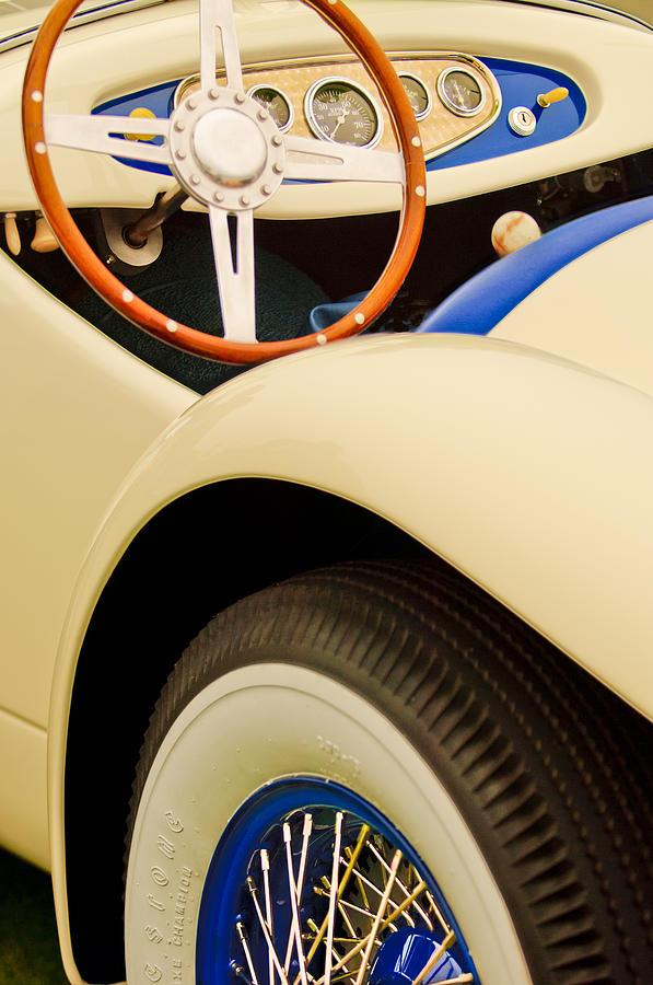 1950 Eddie Rochester Anderson Emil Diedt Roadster Photograph - 1950 Eddie Rochester Anderson Emil Diedt Roadster Steering Wheel by Jill Reger