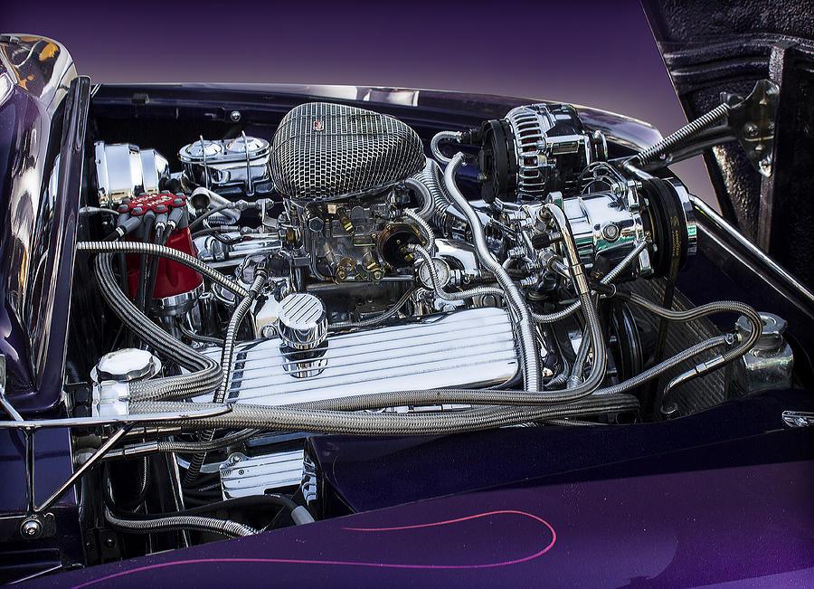 1950 Ford Mercury Engine Photograph