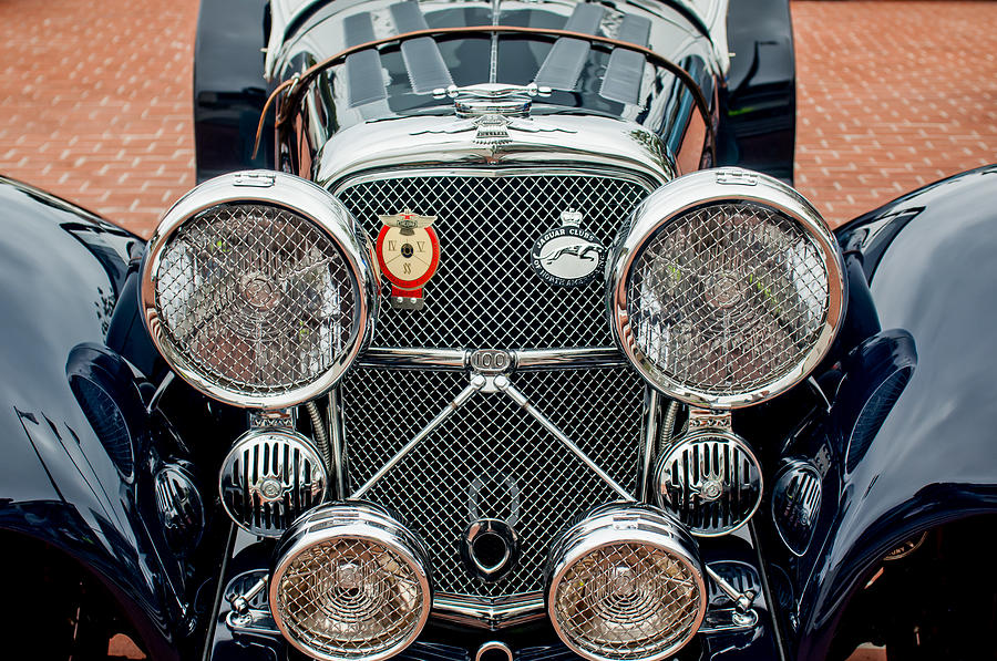 1950 Jaguar Xk120 Roadster Grille Photograph