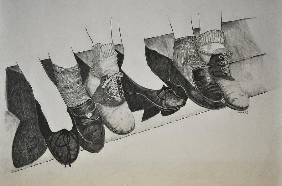 1950 Shoe Fad Drawing  - 1950 Shoe Fad Fine Art Print