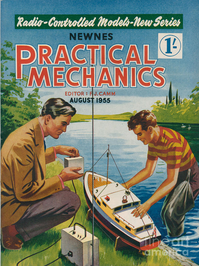 1950s Uk Practical Mechanics Magazine Drawing  - 1950s Uk Practical Mechanics Magazine Fine Art Print