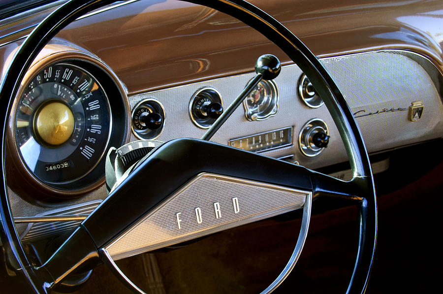 1951 Ford Crestliner Steering Wheel Photograph