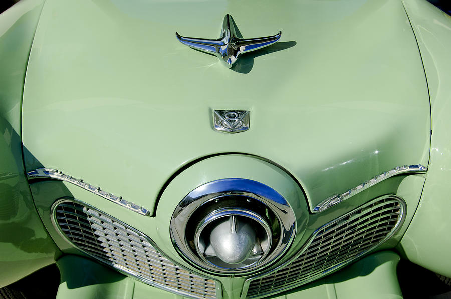 1951 Studebaker Commander Hood Ornament 2 Photograph  - 1951 Studebaker Commander Hood Ornament 2 Fine Art Print