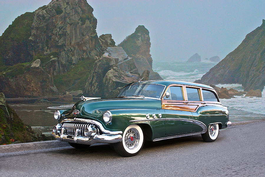 Auto Photograph - 1952 Buick woody Estate Wagon by Dave Koontz