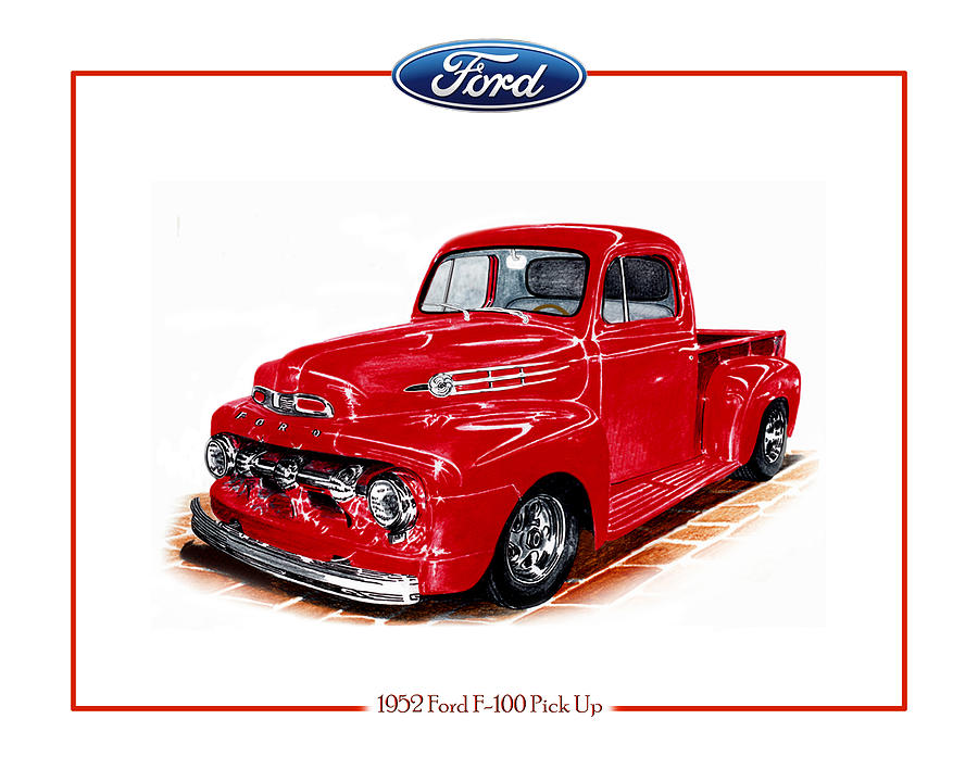 1952 Ford F-100 Pick Up Drawing